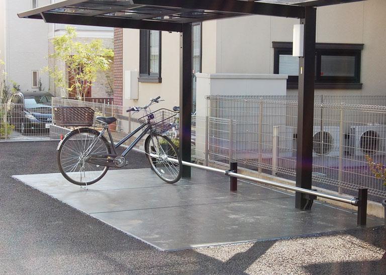 西平井デンタルクリニックの駐輪場